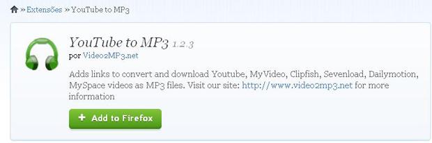 Como converter vdeos para mp3 com o youtube to mp3 online dicas e adicionar extenso youtube to mp3 no mozilla firefox foto divulgao ccuart Images