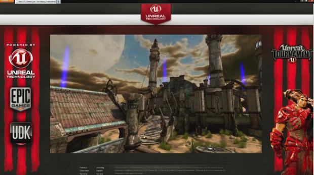 Unreal Tournament III, rodando em um navegador de internet  (Foto: Divulgação)