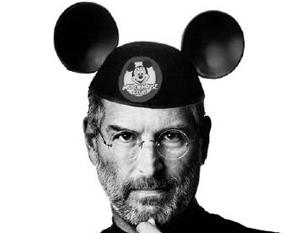 Steve Jobs com orelha de Mickey (Foto: Reprodução)