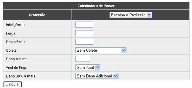 Calculadora de power para RPG The Crims (Foto: Reprodução)