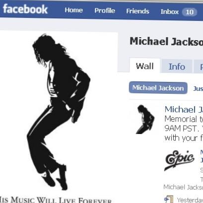 Facebook Michael Jackson (Foto: Reprodução)