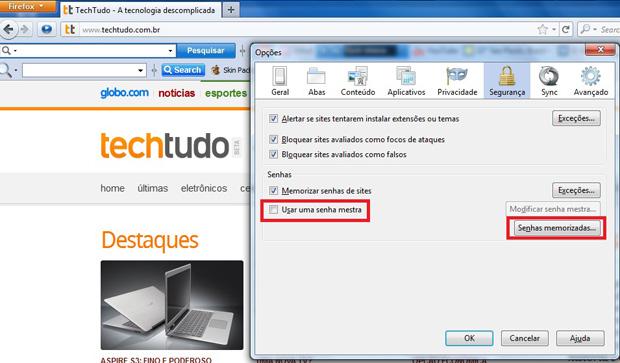 Recuperar senhas no Firefox (Foto: Reprodução)