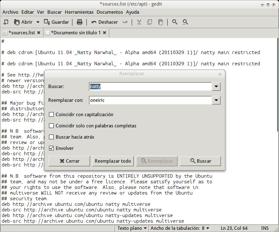 Ubuntu - sources list. (Foto: Reprodução)