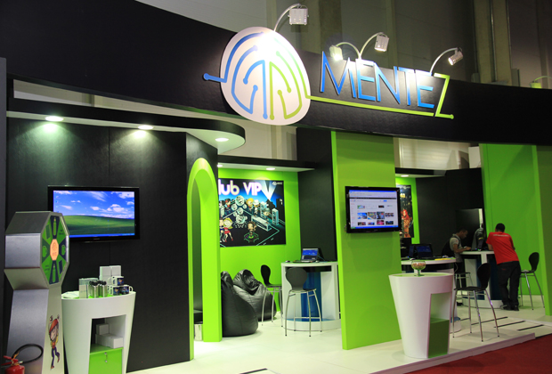 Estande da Mentez na Brasil Game Show (Foto: Allan Melo/TechTudo)