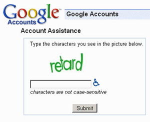 Inclusão de CAPTCHA no Google. (Foto: Oddee)