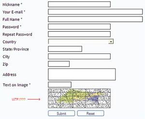 CAPTCHA com símbolos de matemática. (Foto: Oddee)