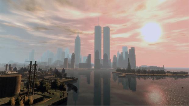 Mod de Grand Theft Auto IV traz de volta o World Trade Center (Foto: Divulgação)