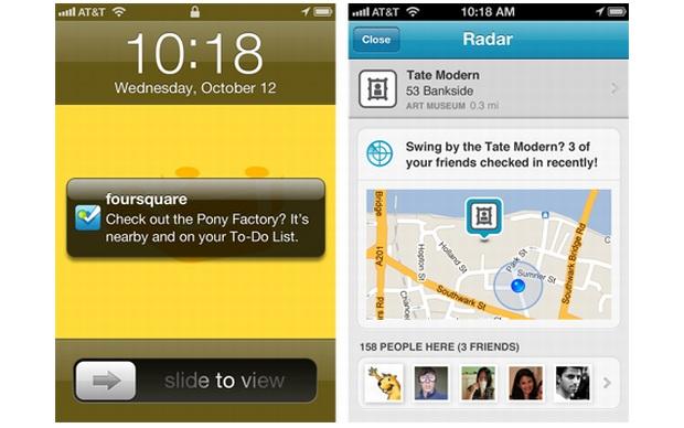 Radar, novo recurso do Foursquare para iOS (Foto: Divulgação)