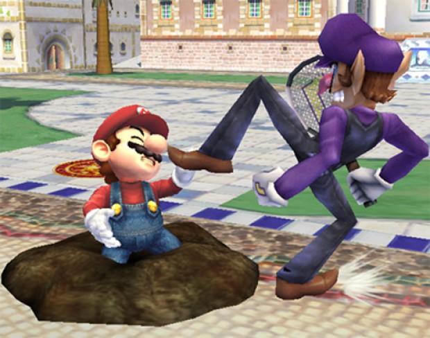 Waluigi em Smash Bros. Brawl (Foto: Divulgação)