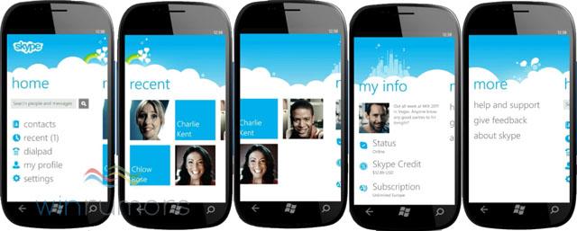 Skype para Windows Phone 7.5 (Foto: Divulgação)