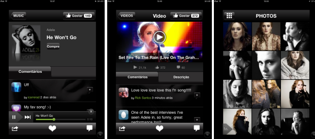 Vídeos, fotos e músicas da Adele (Foto: Reprodução/Camila Porto)