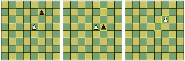 Movimento en passant no xadrez (Foto: Reprodução/Wikipedia)