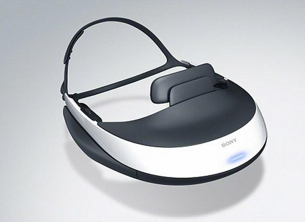 Headset com TV OLED 3D integrada HMz-T1 (Foto: Divulgação)