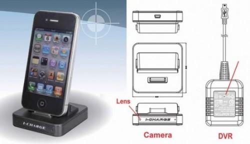 Dock com câmera escondida (Foto: Reprodução)