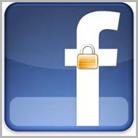 Logo do facebook com um cadiado. (Foto: Divulgação)