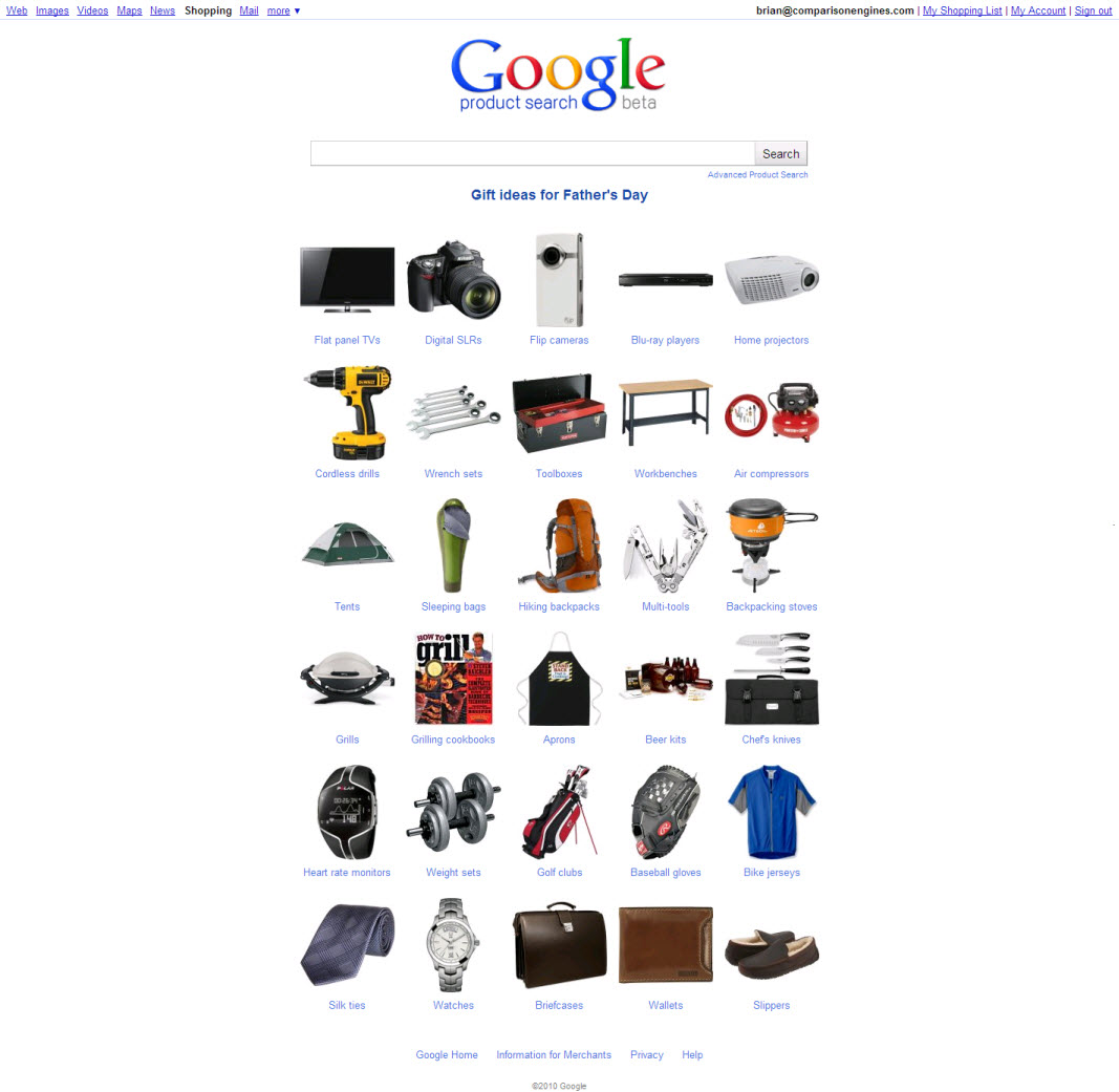 Google shopping (Foto: Divulga&#231;&#227;o)