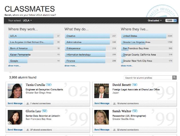 LinkedIn Classmates (Foto: Reprodução)