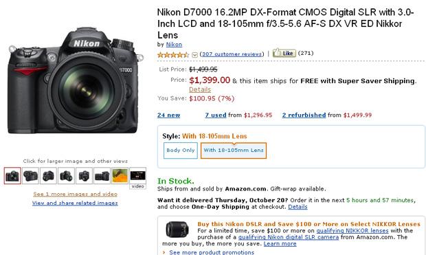 Nikon D700 (Foto: Reprodução/Amazon)