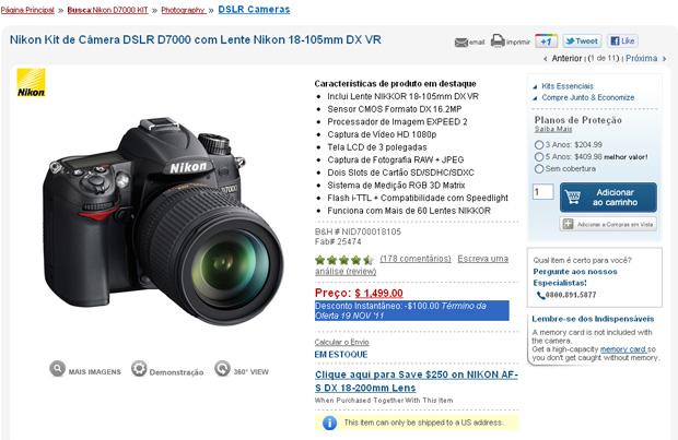 Nikon D7000 (Foto: Reprodução/B$HPhoto)