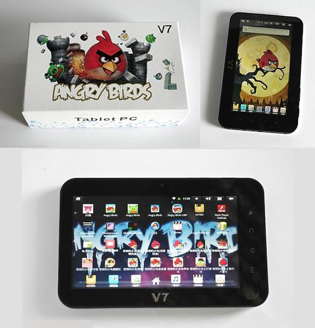 Tablet com tema de Angry Birds (Foto: Reprodução)