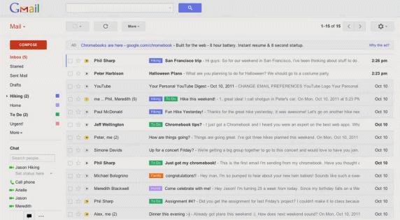 Nvo layout Gmail (Foto: Reprodução)