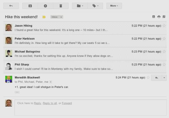 Novo layout Gmail (Foto: Reprodução)