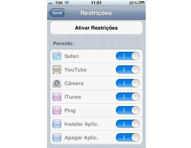 Tela de restrições (Foto: Reprodução/TechTudo)