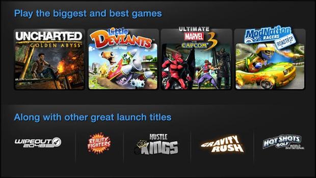 Sony confirma pelo menos nove jogos no lançamento do PS Vita (Foto: Divulgação)