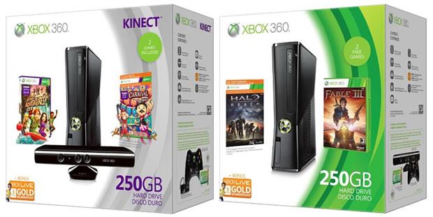 Novos pacotes do Xbox 360 para as festas de fim de ano (Foto: Divulgação)