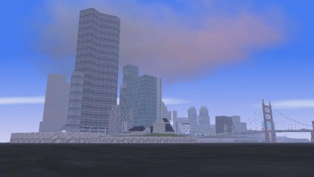 Staunton Island é o centro comercial de Liberty City e cenário para grande parte de GTA II (Foto: Divulgação)