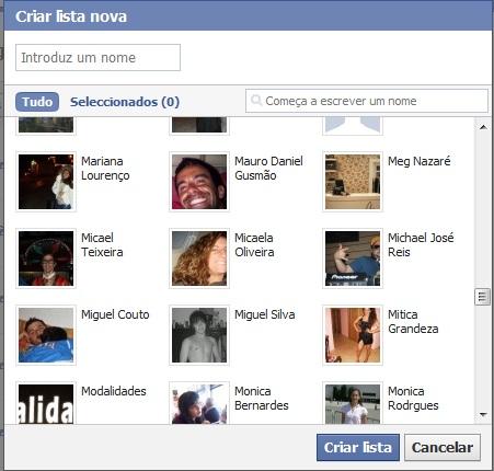 Criar lista facebook (Foto: Divulgação)