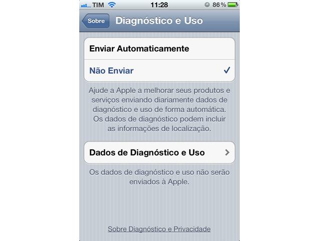 Diagnóstico e Uso do iPhone (Foto: Reprodução)