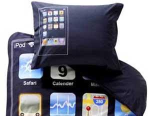 Jogo de cama de iPod Touch. (Foto: Oddee)