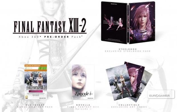 Edições especiais do jogo Final Fantasy XIII-2 (Foto: Divulgação)