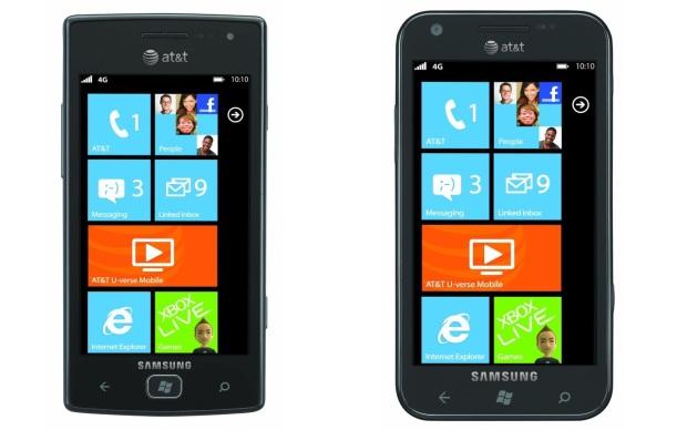 Samsung Focus S e Samsung Focus Flash (Foto: Divulgação)