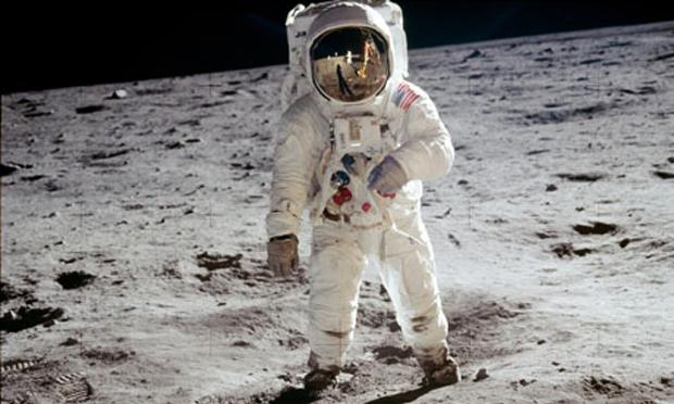Neil Armstrong na Lua (Foto: Reprodução/NASA)