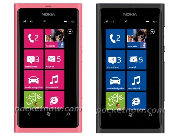 Nokia 800 nas versões rosa e preta (Foto: Divulgação)