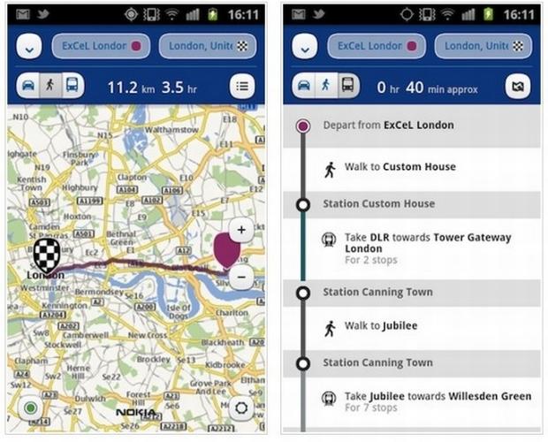 Nokia Mapas no Android (Foto: Divulgação)