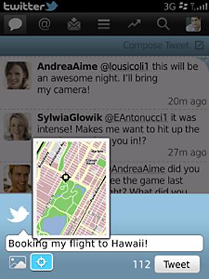 Twitter no BlackBerry (Foto: Reprodução)