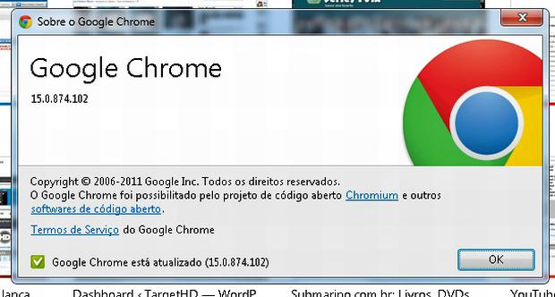 Atualização do Google Chrome (Foto: Reprodução)