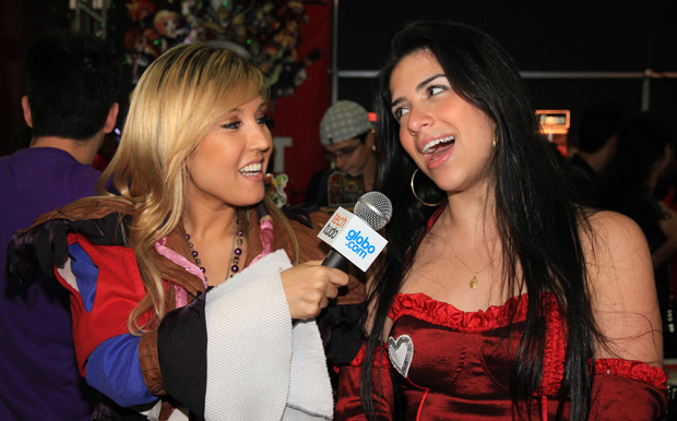 Pietra Principe entrevista as musas dos gamers (Foto: Allan Melo / TechTudo)