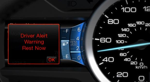 Sistema de notificação do Driver Alert System (Foto: Reprodução)