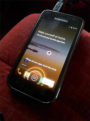 Samsung Galaxy S rodando o Android Ice Cream Sandwich (Foto: Reprodução)