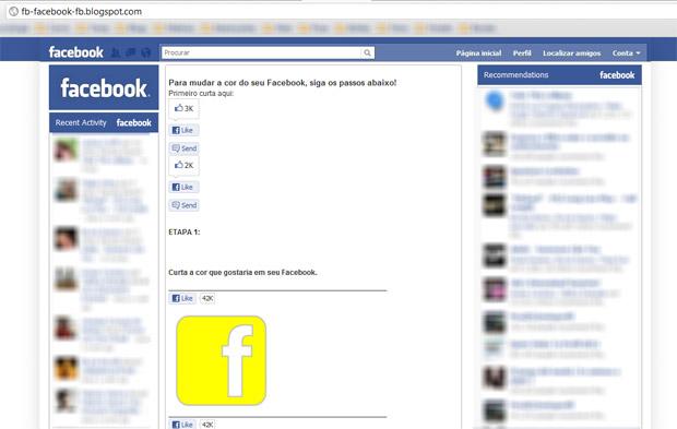 Facebook spam (Foto: Reprodução)