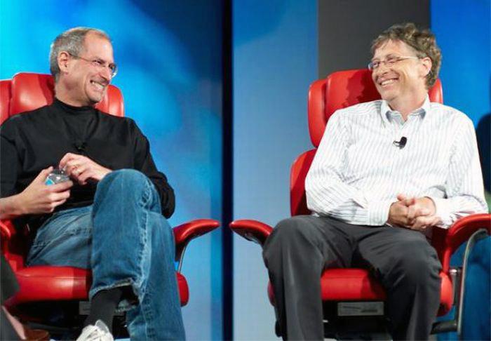 Steve Jobs e Bill Gates (Foto: Reprodução)