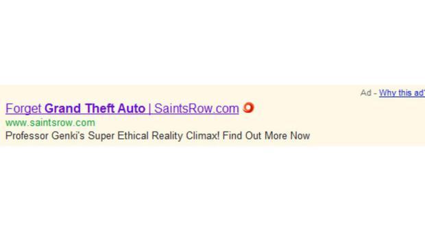 Anúncio sobre Saints Row: The Third pedem para os internautas esquecerem GTA (Foto: CVG)