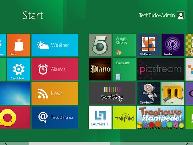 Estilo Metro no Windows 8 (Foto: Reprodução/TechTudo)