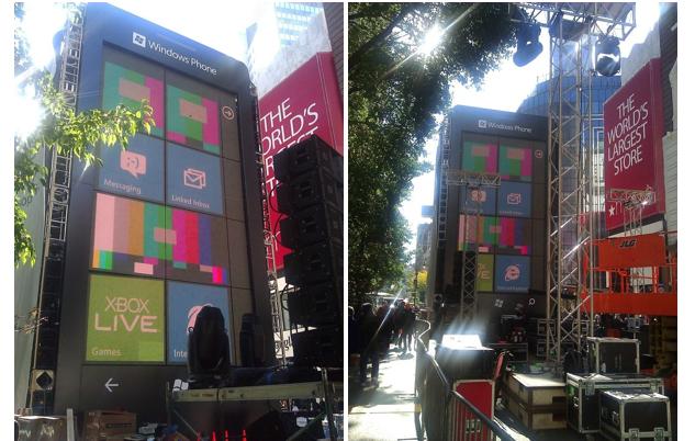 Windows Phone 7 gigante em Nova York (Foto: Divulgação)