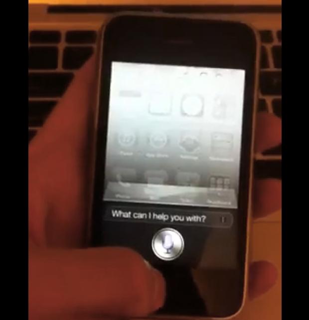 Siri rodando no iPhone 3GS (Foto: Reprodução)