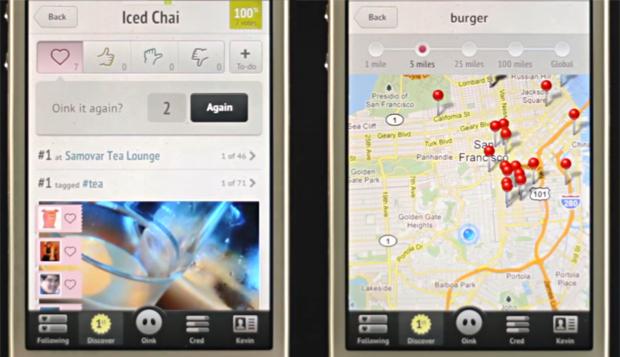 Telas do aplicativo Oink (Foto: Reprodução)